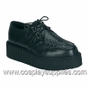 Creeper-402 Black Leather